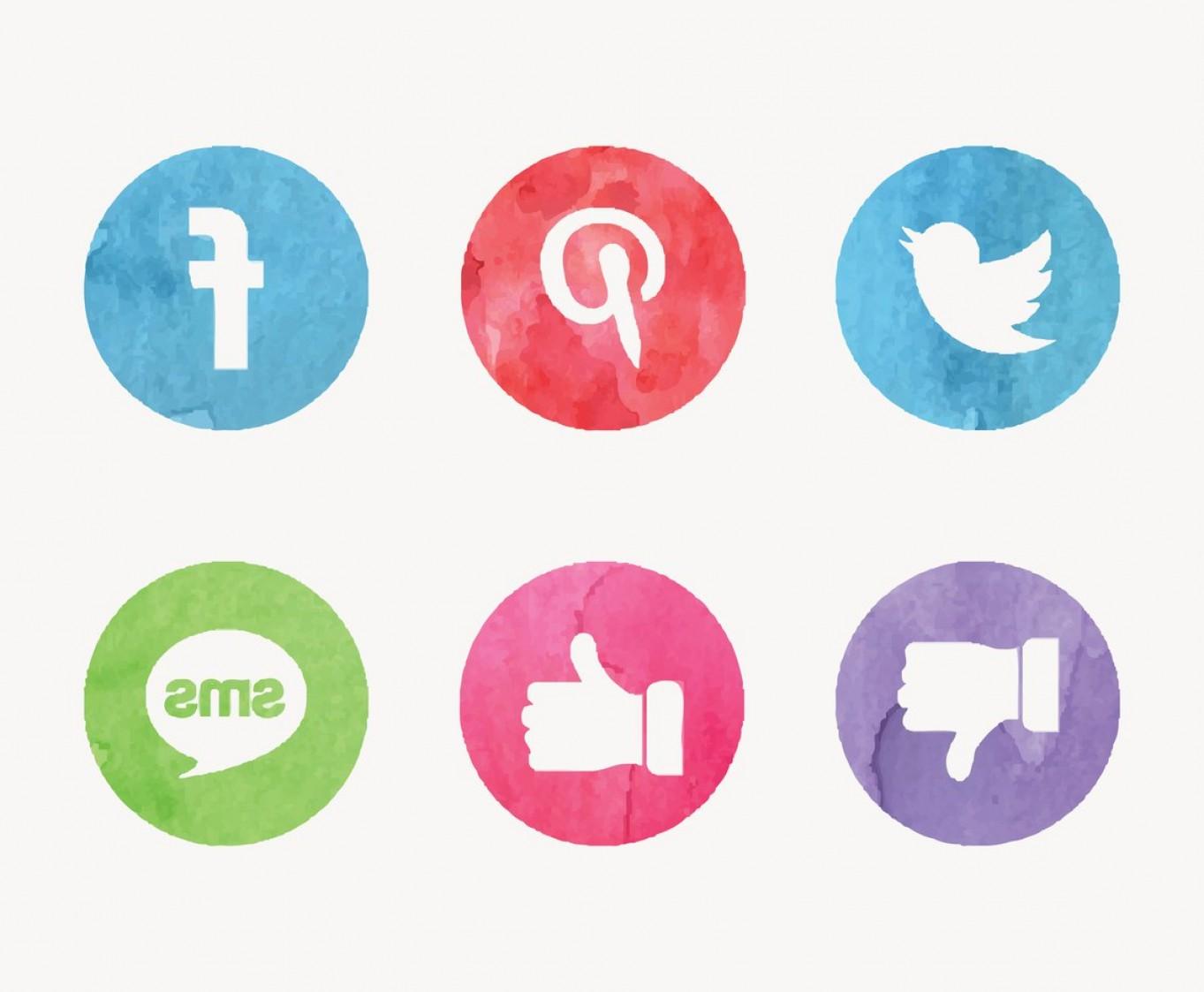 1363x1123 Free Watercolor Social Media Vector Icons Sohadacouri