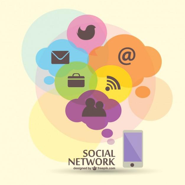 626x626 Social Network Flat Illustration Free Vector Free Vectors Ui