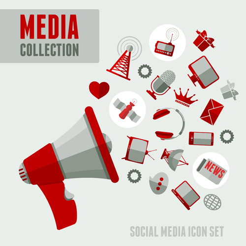500x500 Social Media Icons Red Style Vector 02 Free Download