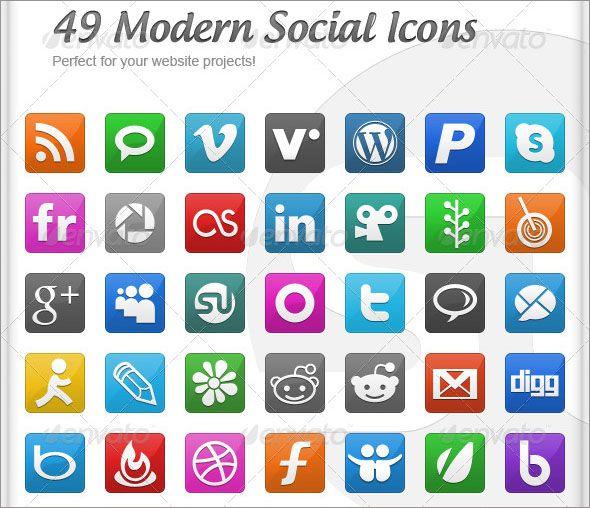 Social Media Vector Icons 2017