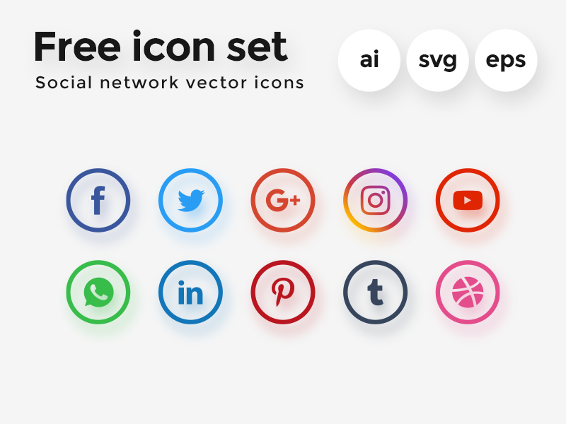 800x600 Free Vector Icon Set Social Network By Diego Naive
