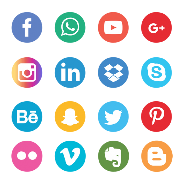 360x360 Social Media Icons Png, Vectors, Psd, And Clipart For Free