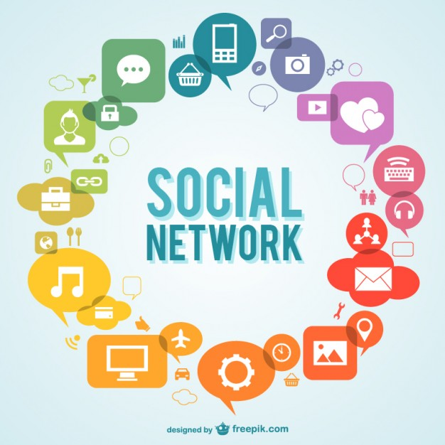 626x626 Social Network Icons Vector Free Download
