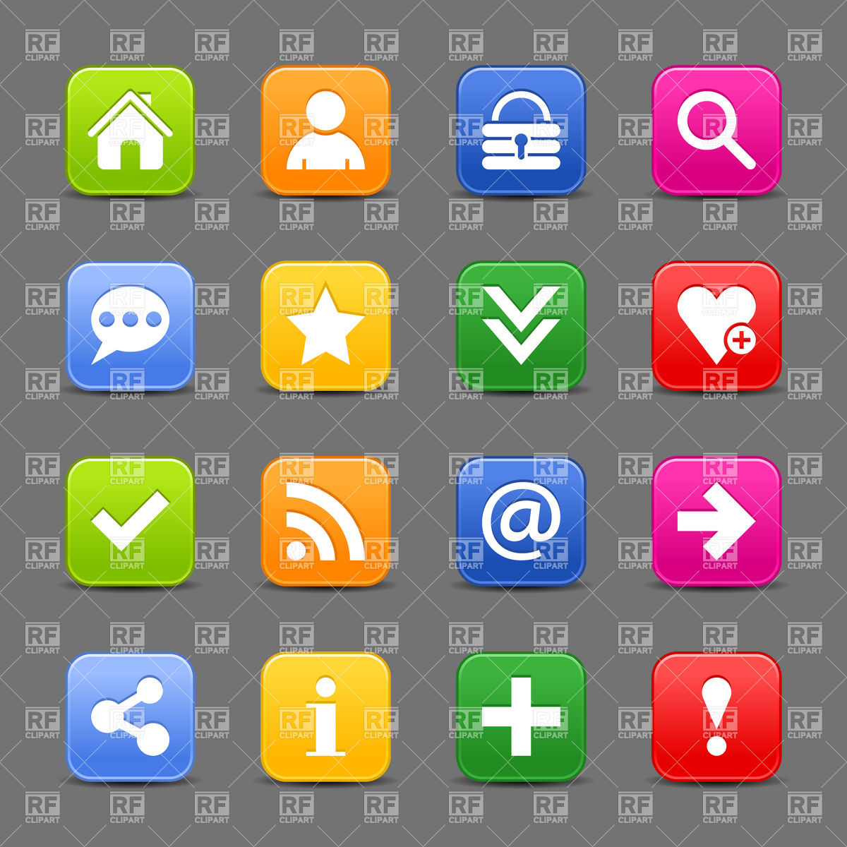1200x1200 Blog And Social Network Simple Icons Vector Image Vector Artwork