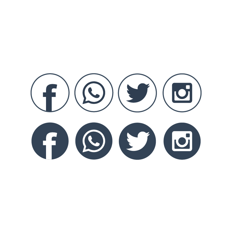 800x800 Free Social Networking Icons Design Vector Download