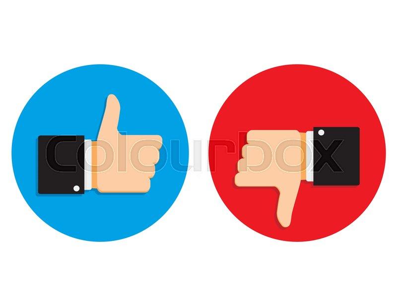 800x616 Good And Bad Signs Set Social Media. Gesture Like Finger Thumb Up