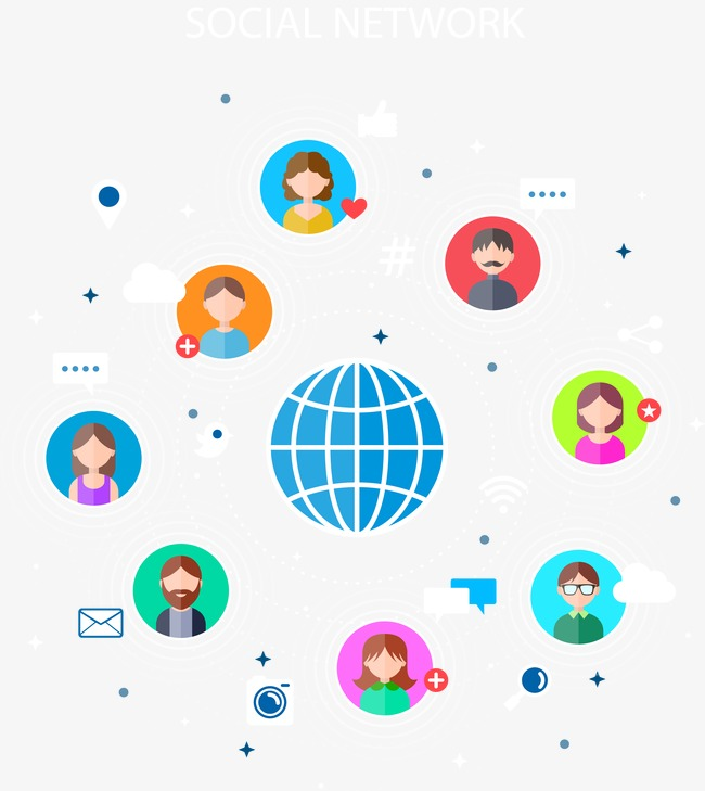 650x729 Internet Social Vector Illustration, Vector, The Internet