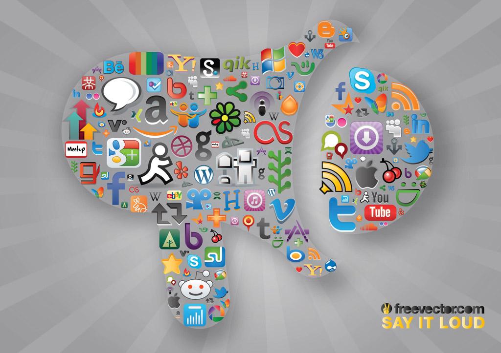 1024x723 Social Communication Vector Art Amp Graphics