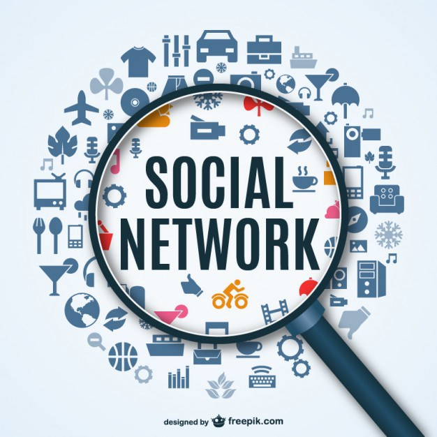 626x626 Social Network Background With Icons Free Vector 123freevectors
