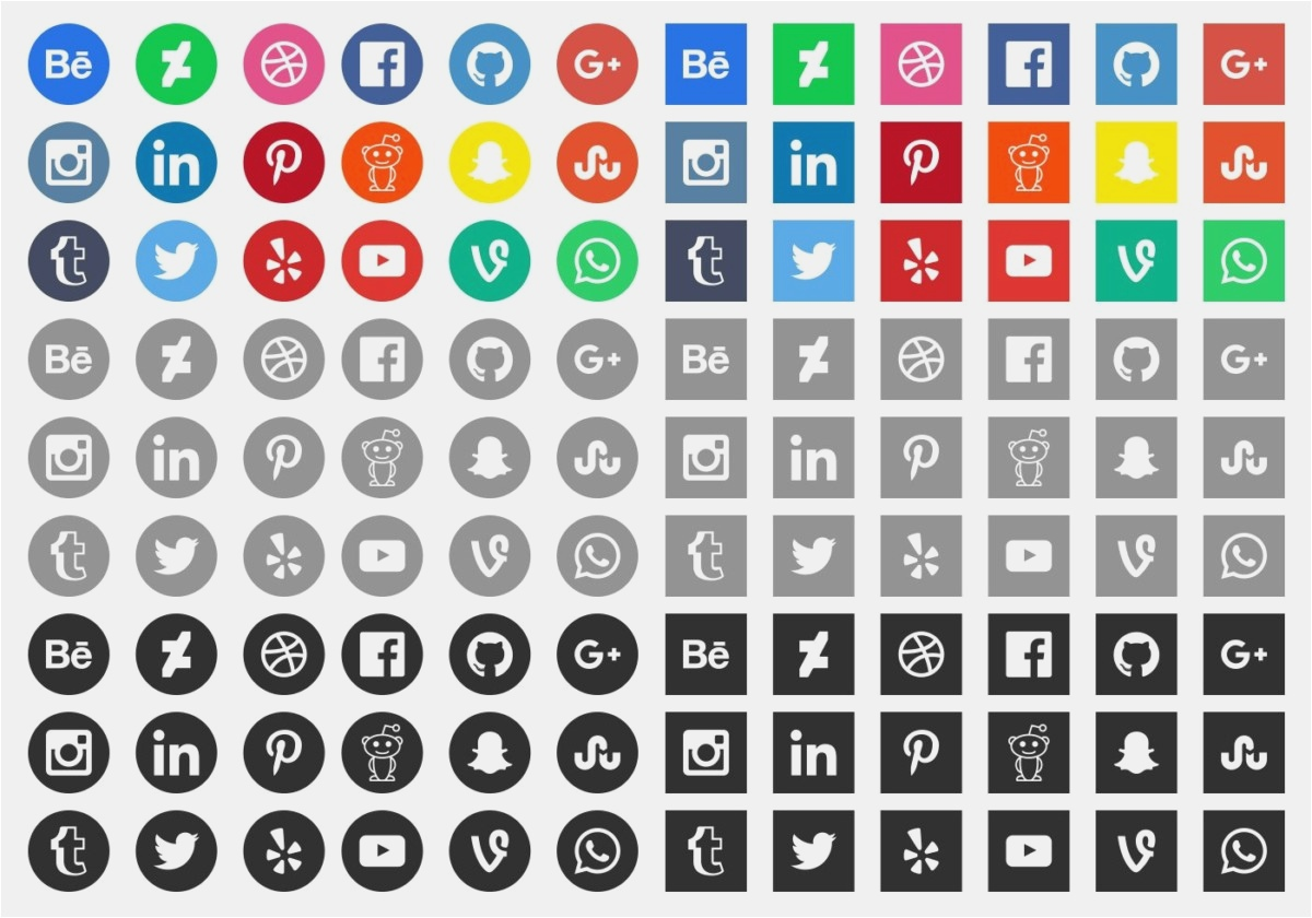 1200x840 28 Free Social Media Icons Vector 2018 Best Graphics Amp Vector