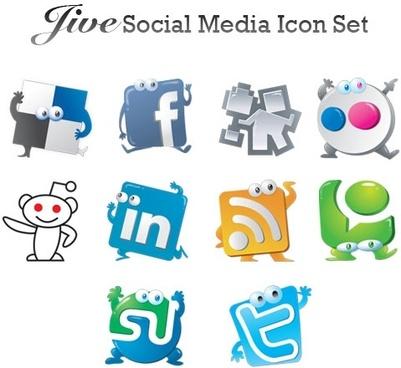 401x368 Social Media Graphic Free Stock Set