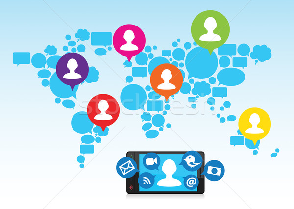 600x426 Connect Amp Share Social Media With Friends Vector Illustration