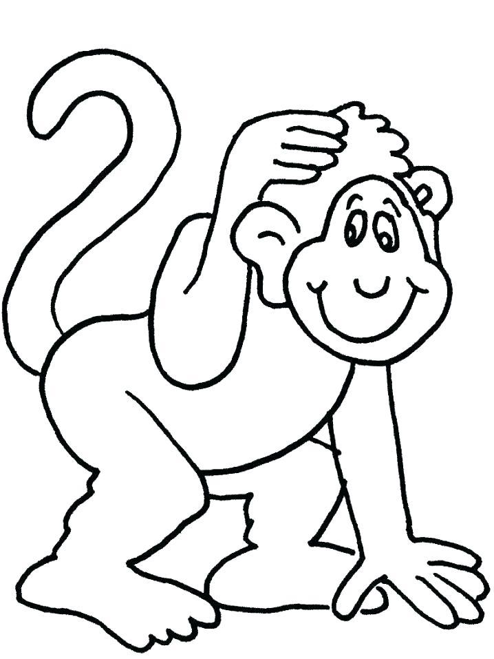 718x957 Monkey Template See No Evil Hear Stock Vector A Unusual Monkey