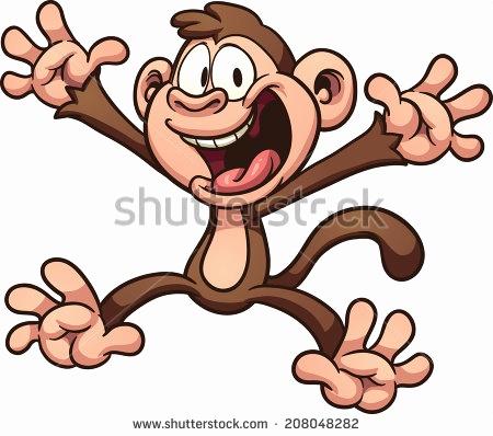 450x398 Sock Monkey Vector Elegant Chibi Monkey Vector Cartoon Download