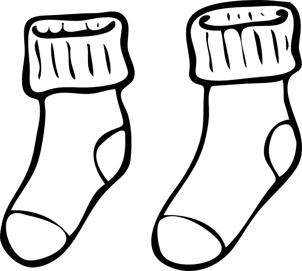sock template vector at getdrawings com free for personal use sock