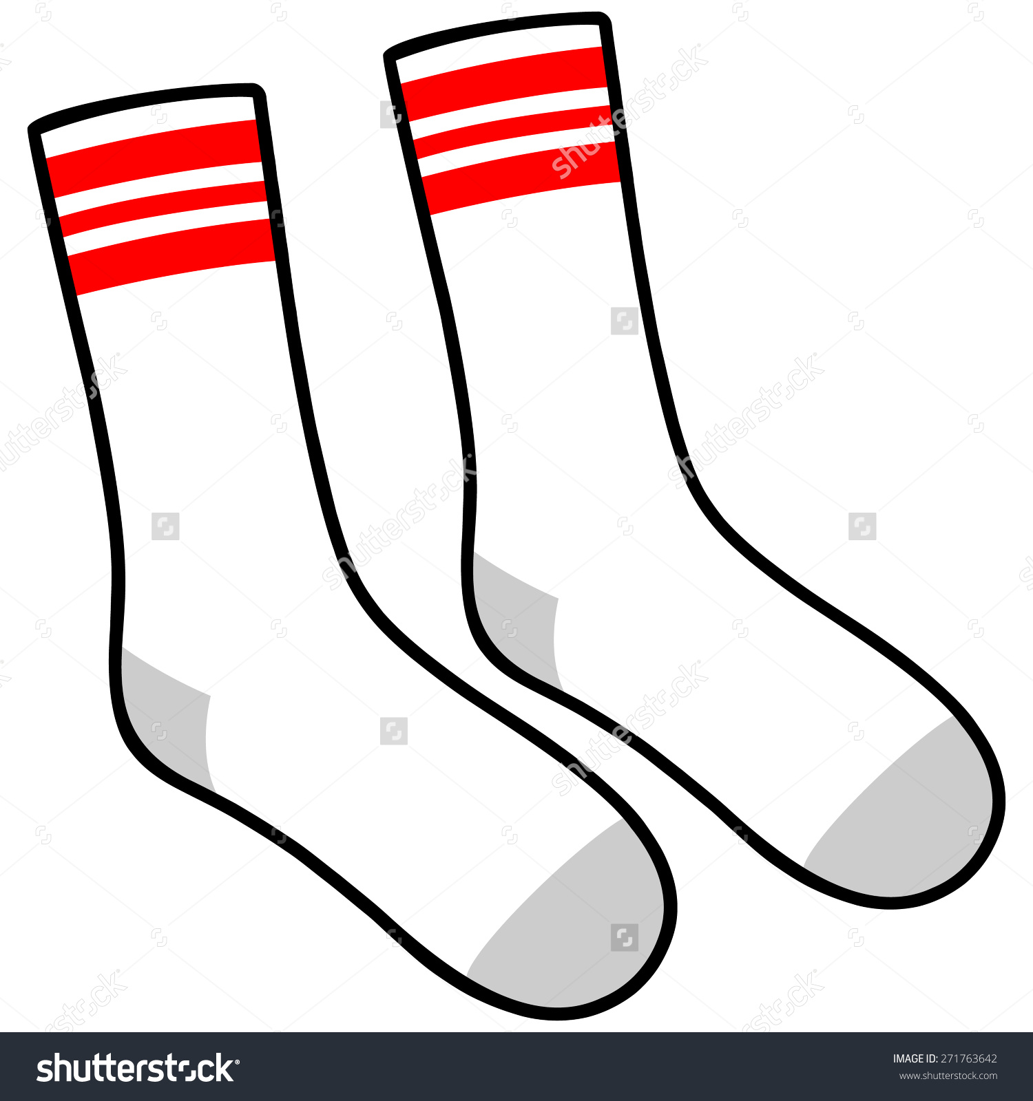 Sock Template Vector at GetDrawings com | Free for personal