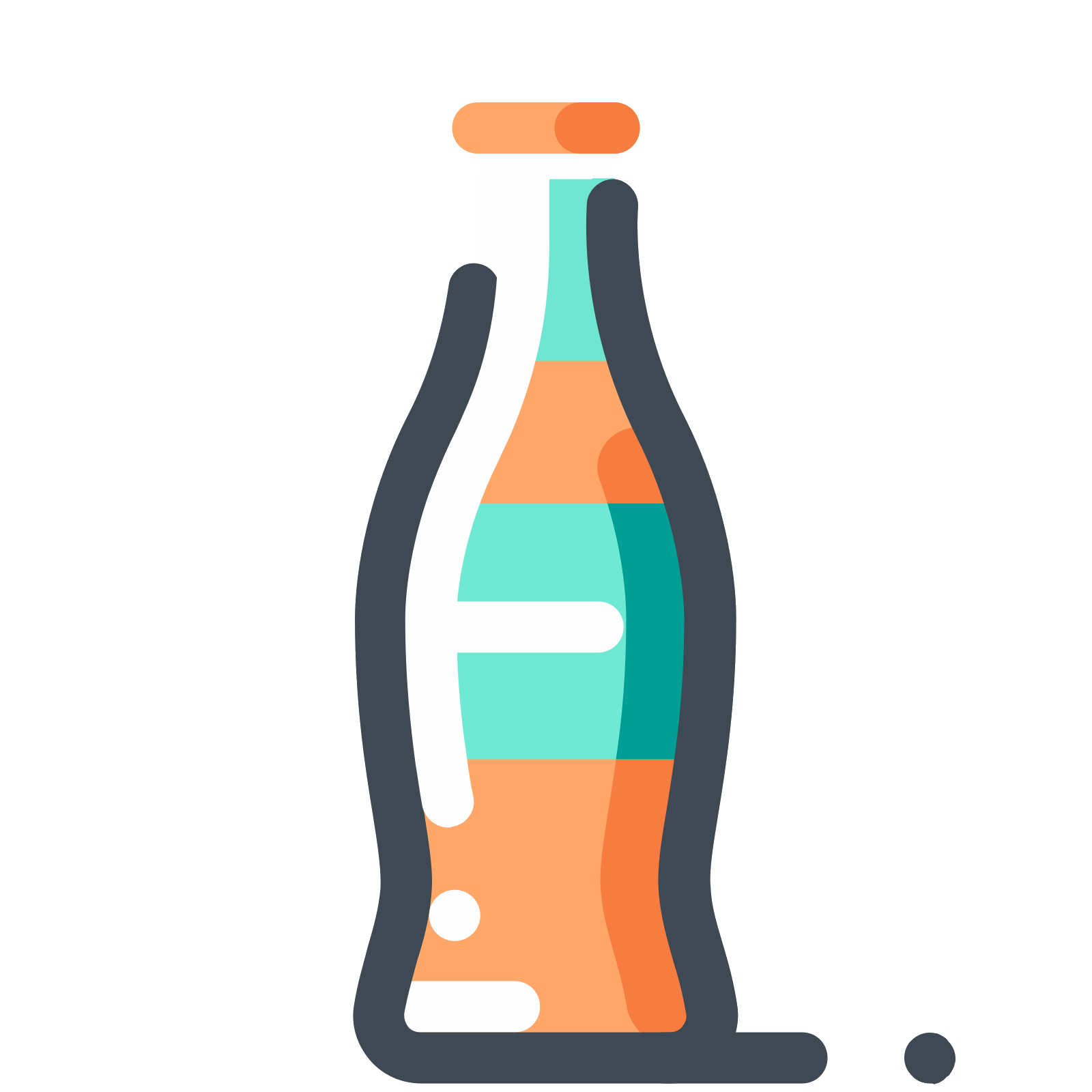 1600x1600 Orange Soda Bottle Icon