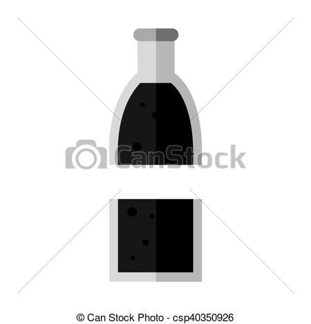 450x470 Soda Bottle Glass Icon Vector Illustration Design Vector