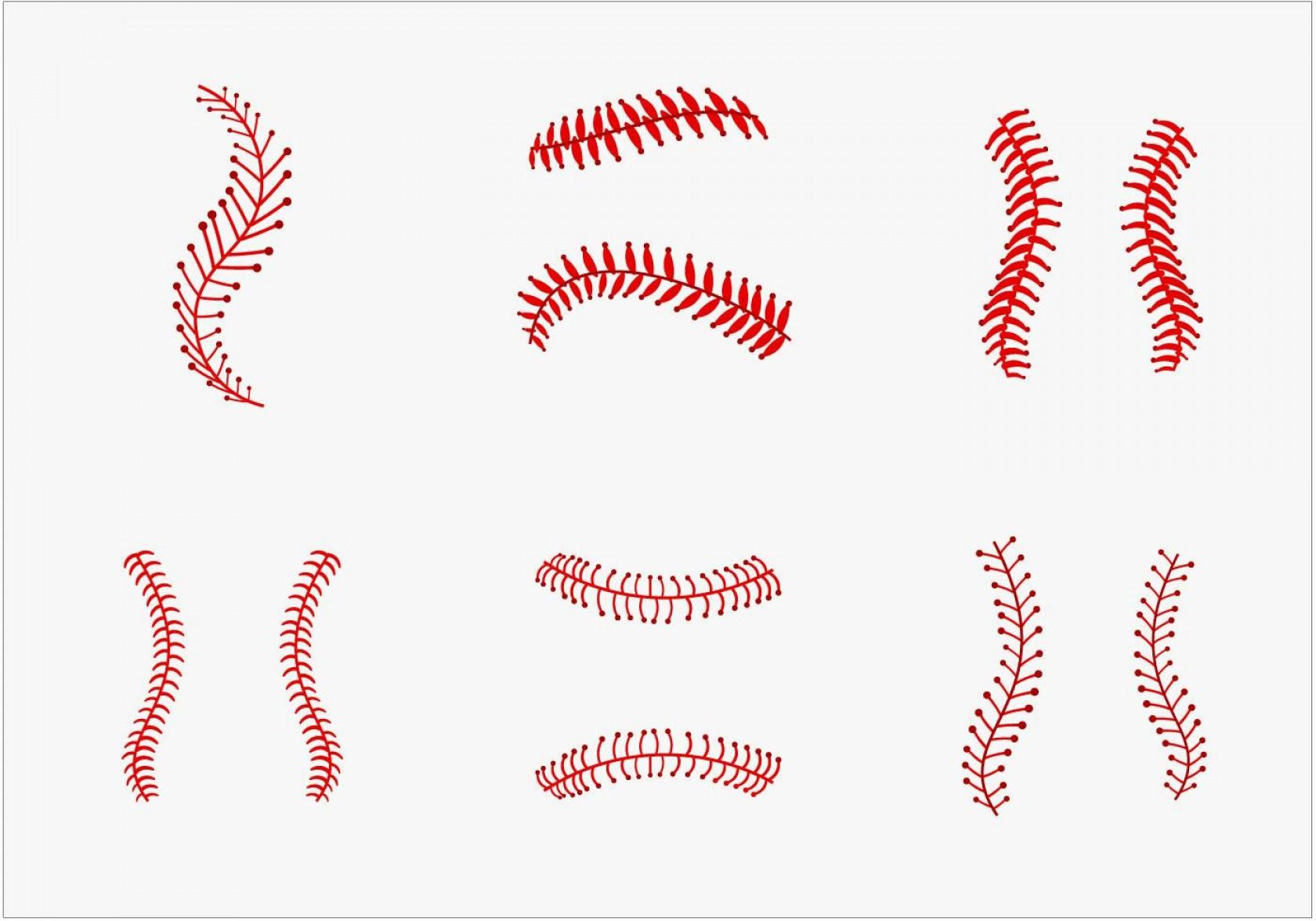 Softball Laces Vector