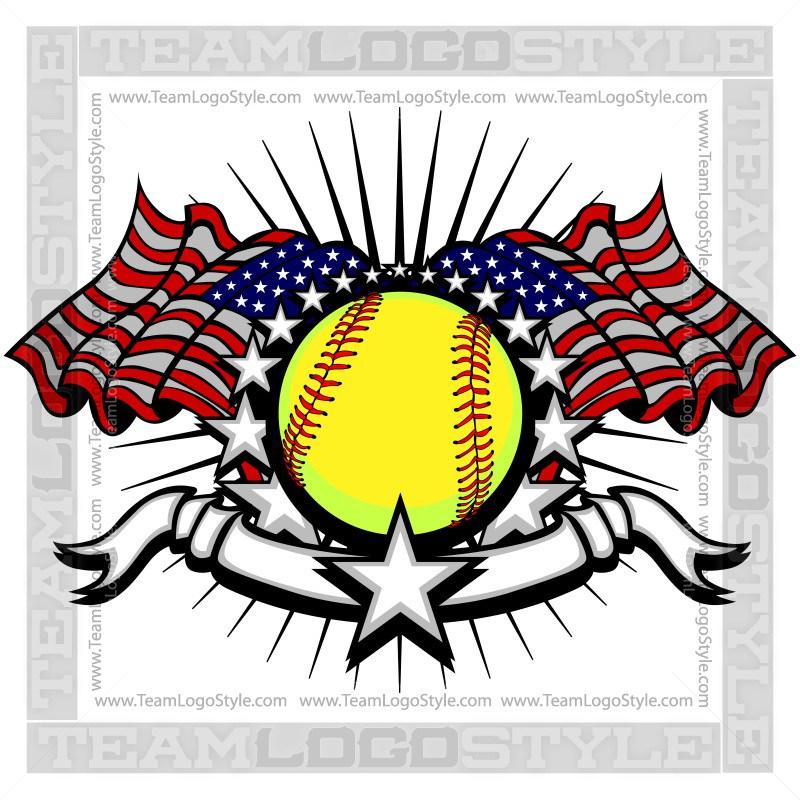 800x800 Memorial Day Softball Logo