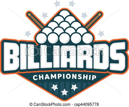 450x375 Billiards Badge Logo. Billiards Badge. Sport Logo Vector Illustration.