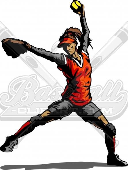 445x590 Fastpitch Softball Pitcher Silhouette. Softball Pitcher Clipart.
