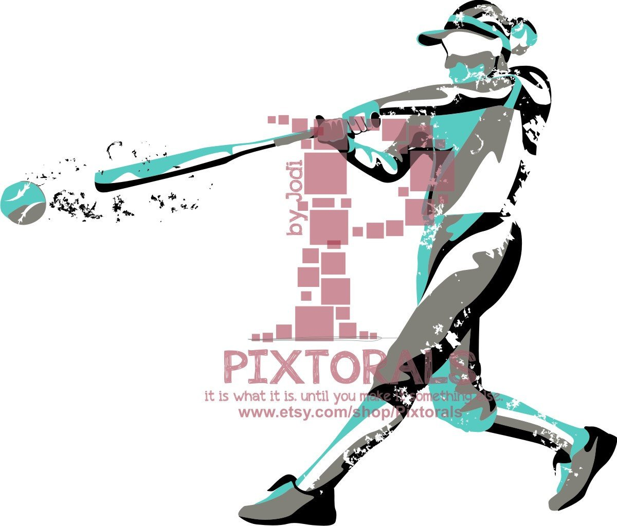1200x1023 Softball Player Vector Softball Player As Png Jpg High Res Etsy