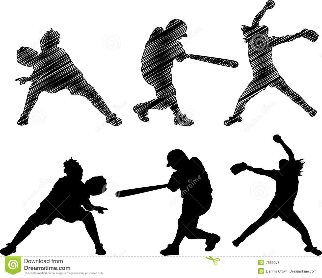 1300x1122 Softball Clipart Girl Softball ~ Frames ~ Illustrations ~ Hd