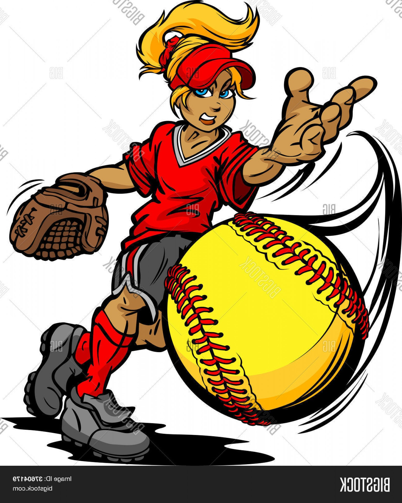 1555x1944 Stock Vector Fastpitch Softball Player Pitching Fast Pitch