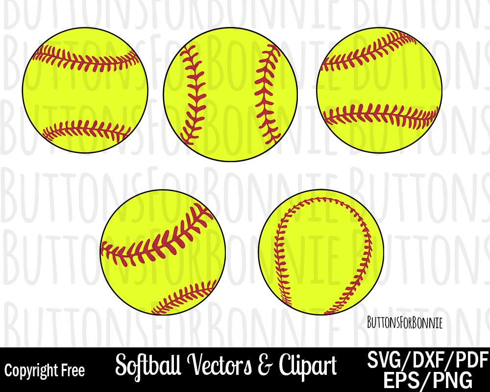 1000x800 Softball Svg, Softball Vector, Stitching, Dxf, Eps, Pdf, Png