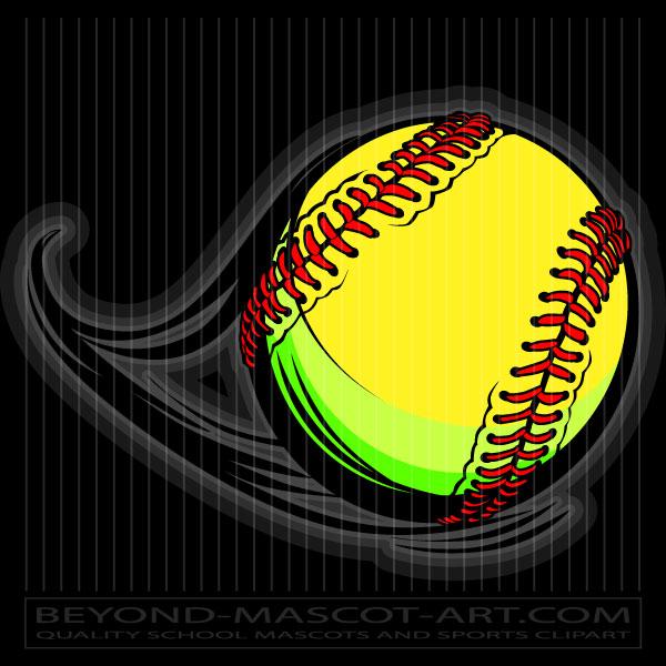 600x600 Vector Softball Graphic Vector Softball Image