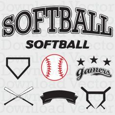 Softball Vector Free Download