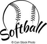 163x155 Pink Softball Vector Library Softball Clipart