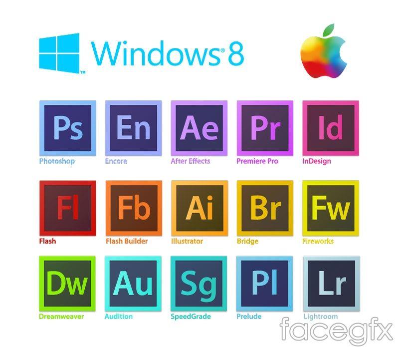 800x695 Adobe Software Icon Vector Free Vectors Adobe