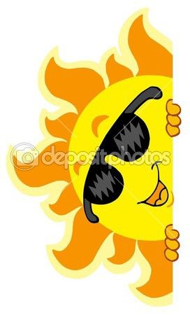 272x450 Sol Al Acecho Con Gafas De Sol Vector De Stock