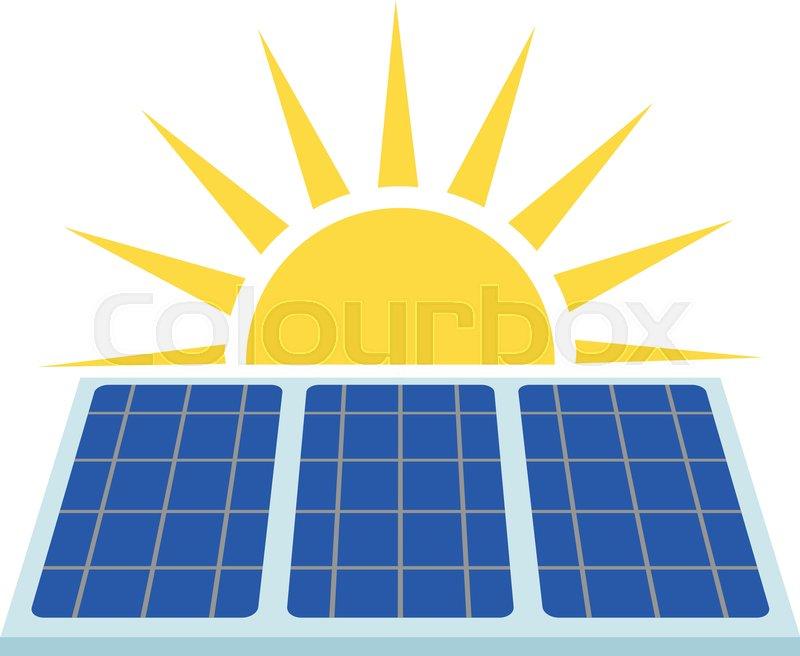800x656 Solar Panel Icon. Flat Illustration Of Solar Panel Vector Icon For