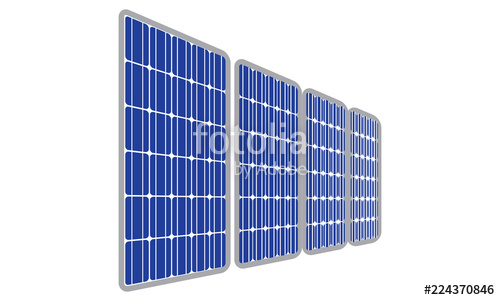 500x300 Solar Panel Vector Design Stock Image And Royalty Free Vector