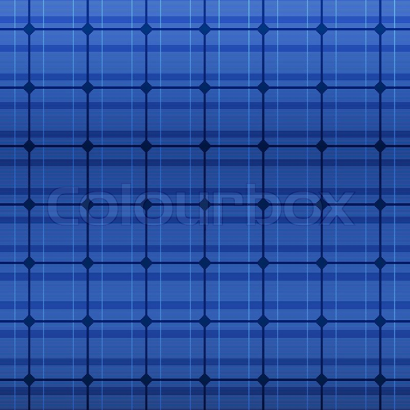 800x800 Detailed Blue Electric Solar Panel Pattern. Vector Illustration