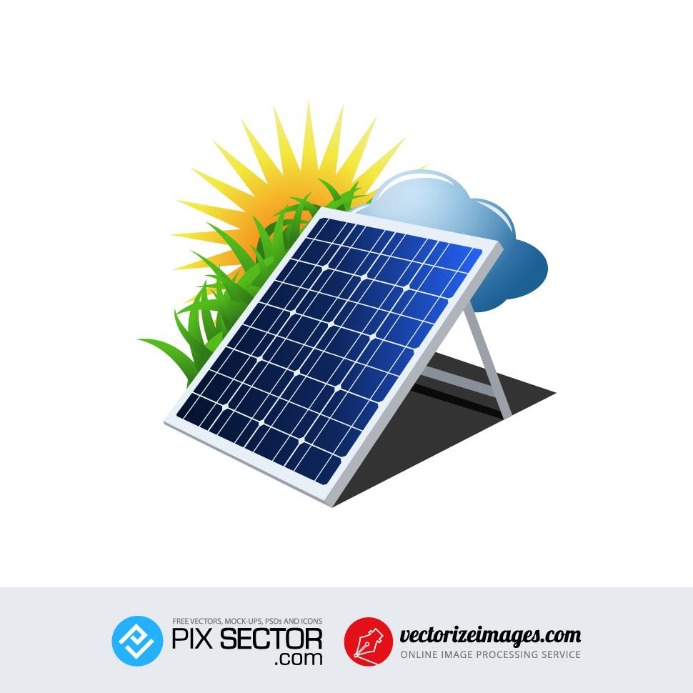 970x970 Free Vector Solar Panel Energy