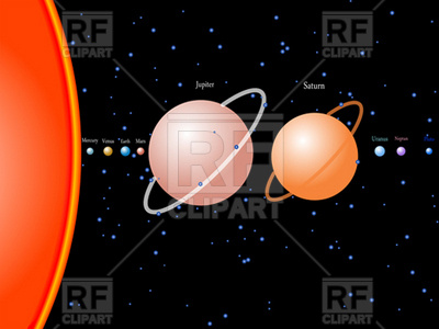 400x300 Planets Of Solar System Vector Image Vector Artwork Of