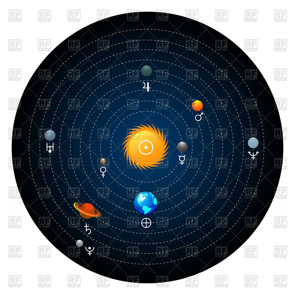 1200x1200 Planets Of Solar System Vector Image Vector Artwork Of Objects
