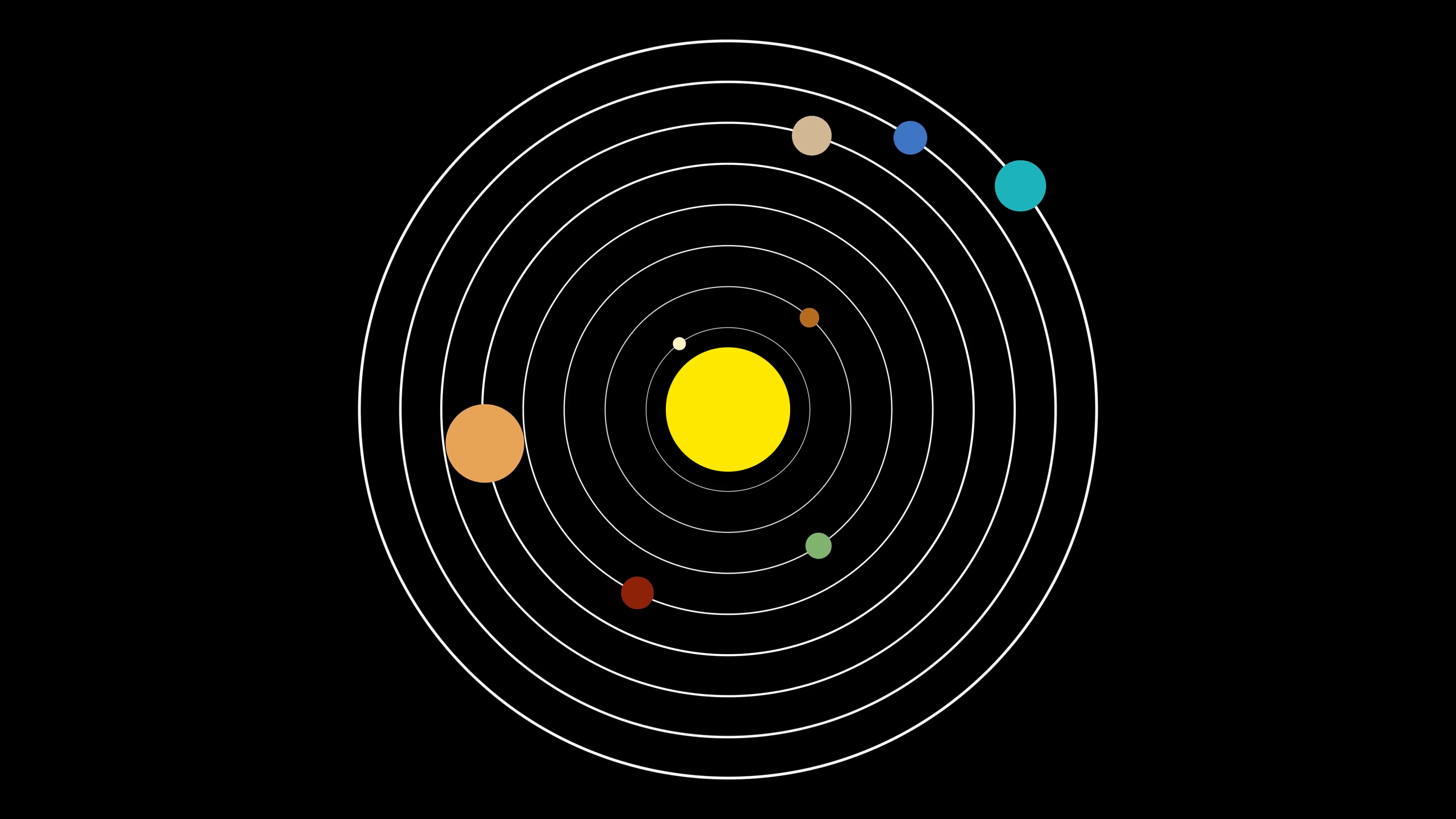 3840x2160 Simple Vector Illustration Style Of The Solar System With Planets
