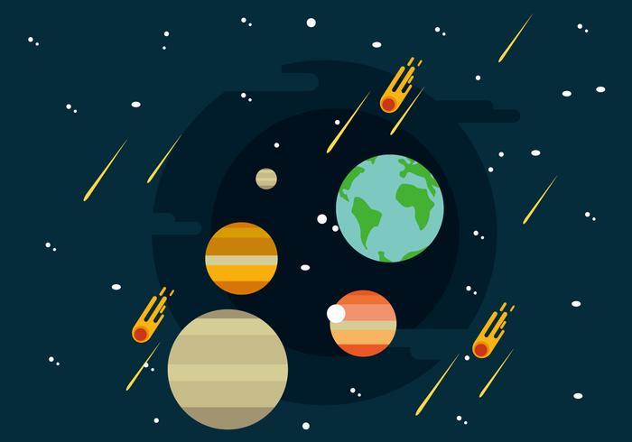 700x490 Solar System Illustration
