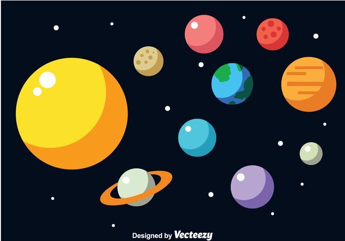 700x490 Solar System Vector