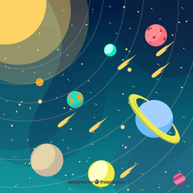 626x626 Solar System Background Vector Free Download