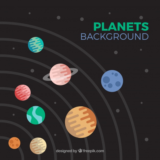 626x626 Solar System Background In Flat Design Vector Free Download