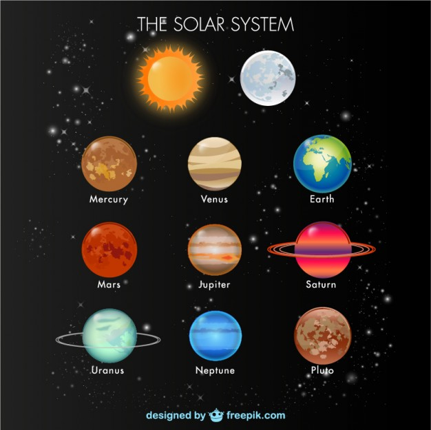 626x625 Solar System Elements Vector Free Download