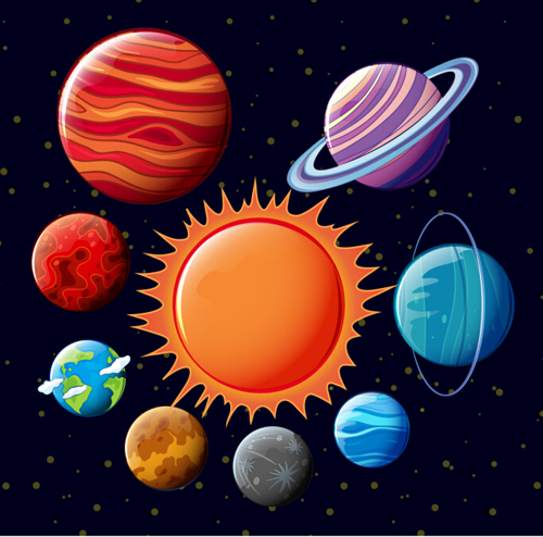 500x494 Solar System Planets Vector Material 02 Free Download