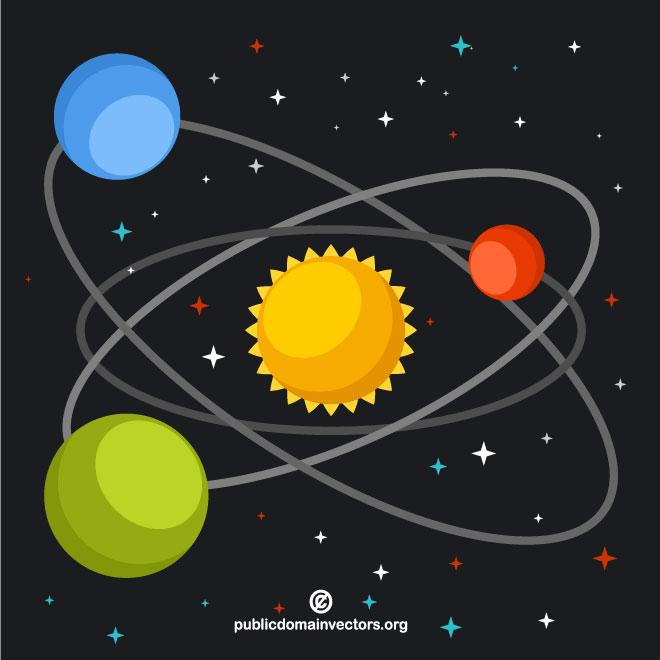 660x660 Solar System Vector Graphics