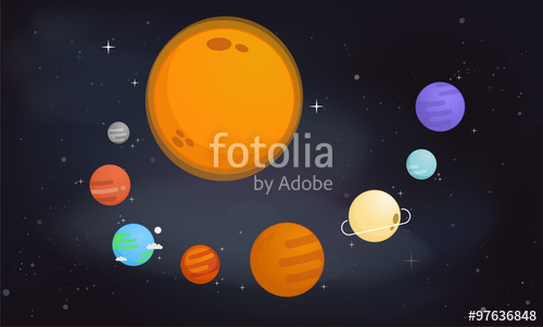 500x301 The Solar System Vector Illustration Stock Image And Royalty Free